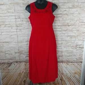 Red Carolina Blues size 12 maxi dress